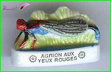 """Feve Les Insectes  Edition Atlas """" Le Agrion aux Yeux Rouge """" Dragonfly  #C37"""