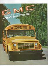 1970 GMC School Bus Factory Sales Brochure
