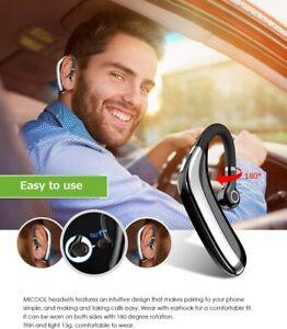 Bluetooth Headset Handsfree Noise Cancelling Mobile Smart Phones Earpiece Device