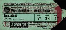 Ticket BL 79/80 FC Bayern München - SV Werder Bremen