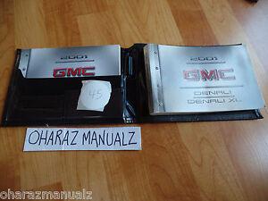 2001 GMC Denali / Denali XL Owner Owners Owner's Manual w/ Case