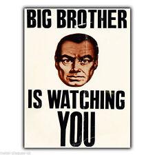 Letrero de metal placa de pared Big Brother is watching you Orwell cartel Impresión Foto