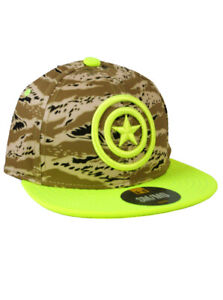 Under Armour Captain America Fitted Hat Youth Size S/M Alter Ego Camo Marvel New