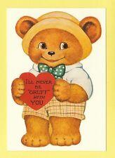 MAYFAIR  ADVERTISING  POSTCARD   -  GRUFF  BEAR