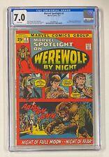MARVEL SPOTLIGHT #2 Marvel 1972 CGC 7.0 Werewolf by Night 1st Appearance Origin