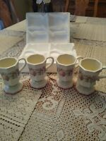 "Beautiful Set ""Avon"" Vintage ""Sweet Country Harvest"" Set 4 Collectible Mugs Cups"