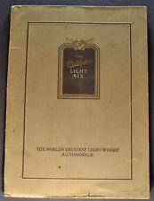 1922 Studebaker Light Six 6 Catalog Sales Brochure Nice Original 22