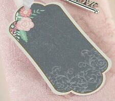 24 Silver Keys and Chalk Style Tags Guest Signing Wedding Memories Advice Tags