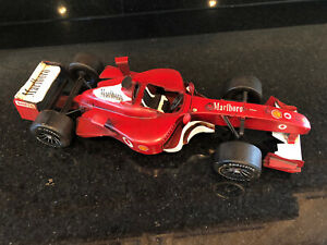 1/16 Ferrari F1 Michael Schumacher Tin Art Deco Vintage Antique finish display