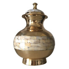 Large Pearl Urns for Human Ashes - Adult Pointed Mother of Pearl Cremation Urn