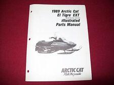 Arctic Cat El Tigre EXT OEM Illustrated Parts Service Manual 1989 Vintage sleds