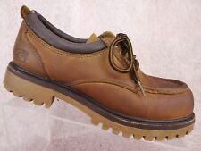 Vtg 90s Candies Brown Leather Chunky Work Boot Y2K Platform Streetwear Shoes 8