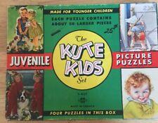 Vintage KUTE KIDS PUZZLE set 1950's Children's Picture Toys