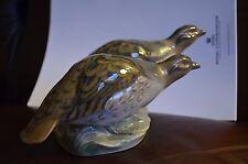SUPER RARE A pair of Partridges Royal Copenhagen Figurine 1600 Bird Figur Herold