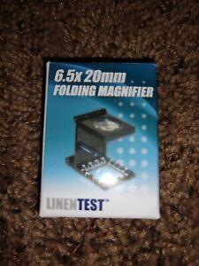Carson Optical 6.5 x 20mm LT-20 Metal Linen Test Folding Metal Magnifier