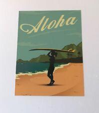 Aloha Surf Sticker - Surfer Girl Islands Waves Surfing Beach Surfboard Longboard