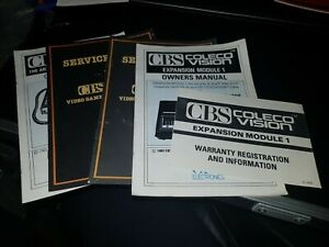 CBS Coleco Vison Owners expansion module Manual game leaflets service sheets