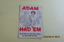 VINTAGE LICE PAMPHLET SERGEANTS SKIP-FLEA POWDER ADVERTISING ADAM HAD'EM
