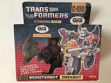 Transformers G1 1987 GiG MONSTERBOT DREKBOT (doublecross) in box trasformer