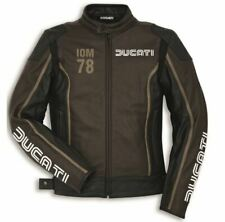 Ducati Dainese IOM78 C1 men motorcycle leather jacket 54
