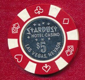 STARDUST HOTEL CASINO LAS VEGAS NEVADA $5 GAMING CHIP **CASINO PLAYED**