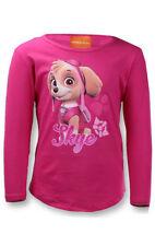 T-shirt rose à manches longues pour fille de 6 à 7 ans
