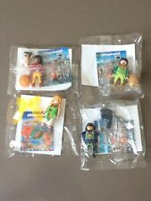 4 personnages Playmobil: Fée aux libellules/ garde animalier / 2 Shaolins
