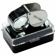 2pc 10X 21mm Jewelry Jeweler's Loupe Magnifer Set Magnifying Glass Optical Tool