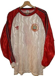 MATCH WORN 1980's #3 BULGARIA Football Shirt Jersey ADIDAS size XL Tricot Maglia