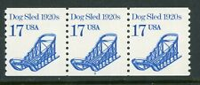 USA 1985 Dog Sled PNC Strip of 3 Plate # 2 Scott 2135 MNH Y685