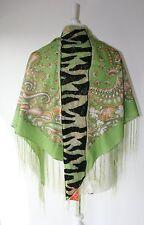Alexia 'Jasmine' patterned, fringed, sequined  boho scarf shawl BNWT RRP £99.99