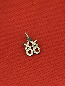 Retired James Avery Sterling Silver 925 Love XOXO Hugs and Kisses Charm