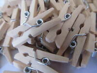 150 Pack Of Small Wooden Craft 25mm Mini Pegs, Natural, Ideal For Crafting Card