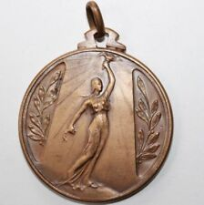Old Solid Bronze Art Medal, 1959, Victory Award Medal / 45 mm / 142