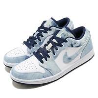 Nike Air Jordan 1 Low SE AJ1 Washed Denim Blue Navy White Men Shoes CZ8455-100