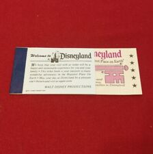 Disneyland Adventures Ticket Coupon Book Courtesy Guest 5 Adventures from 1974 E