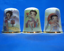 Birchcroft China Thimbles -- Set of Three -- Betty Boop USA