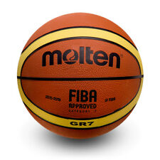 Molten GR7 ballon de basket Taille 7 Homme Orange et Jaune Extérieur Caoutchouc Basket