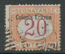 ITALIENISCH-ERITREA 1903 Ziffernzeichnung Italien Portomarke MiNr. 22 m Aufdruck