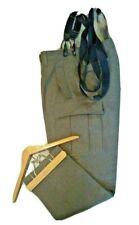 "Vintage K Begemann German Wool Cargo Pants Olive Green Adjustable Waist 34""x31"""