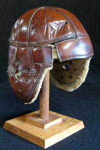 KILLER Old Antique 1920's RAWLINGS Model 10 Leather Football Helmet Vintage