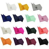 Men's Necktie Set Solid Check Jacquard Wedding Tie + Pocket Square Handkerchief