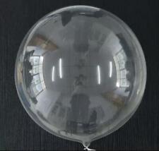 3 piece 18 inch Transparent  Confeti Balloons
