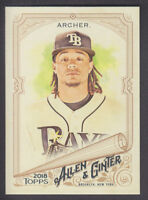 Topps - Allen & Ginter 2018 - Base # 192 Chris Archer - Tampa Bay Rays