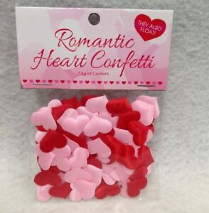 Kheper Romantic Heart Confetti Celebrate Love Pink & Red Valentine Party Decor