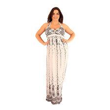 Grande taille - Maxi dress très longue dentelle fleurie  Lili London 46 48 50 52