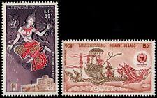 ✔️ LAOS 1973 - METEOROLOGY - MI. 368/369 ** MNH OG [LS368]