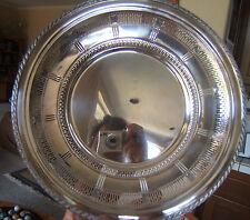 "Wallace EPNS N6466 Art Deco Design Silver Plated Pierced Plate 10"" Diam"