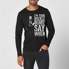 Say HO HO HO Santa Doc Holliday Tombstone XMas Long Sleeve Men/'s Tee Shirt 1149