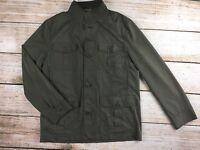 Mens Tasso Elba M Medium Safari Military Jacket Olive Green Button Up